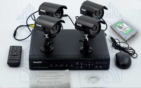 Схема Falcon EYE FE-004H-KIT (Дача)